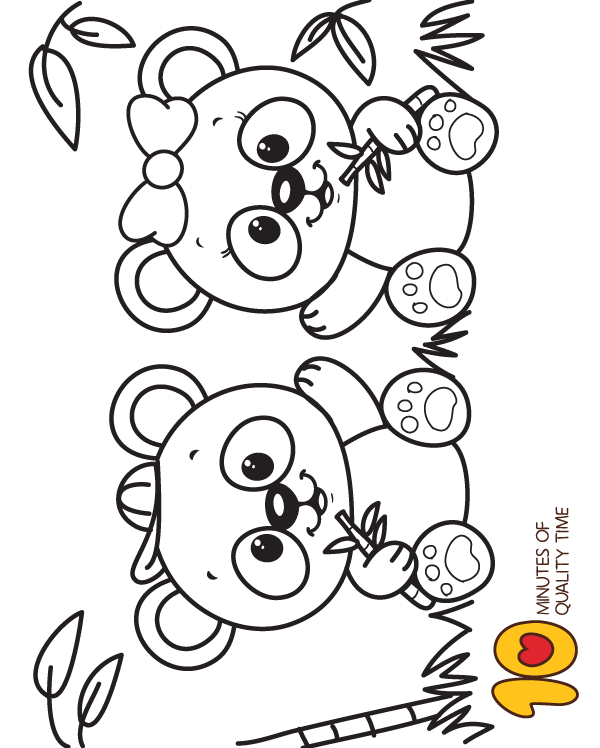 Various Panda Coloring Pages Printable | 101 Coloring | 748x600