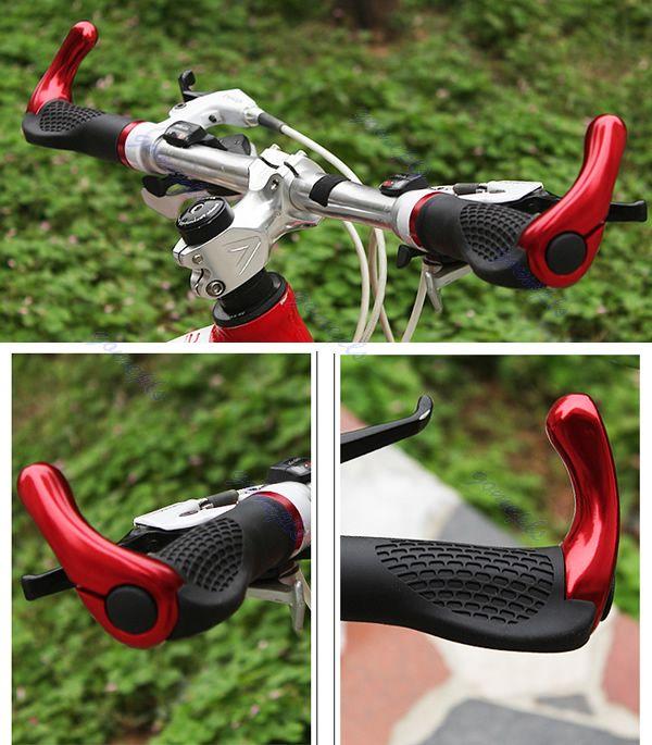 Ergonomic MTB Mountain Bike Handlebar Rubber Grips Cycling Bicycle Lock-On Ends