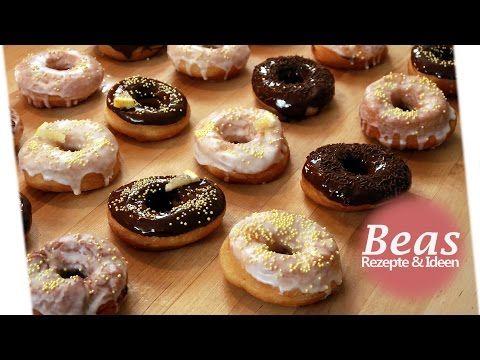 DONUT Rezept gefüllt mit Zitronencreme | Die besten Donuts backen | Gefüllt - YouTube
