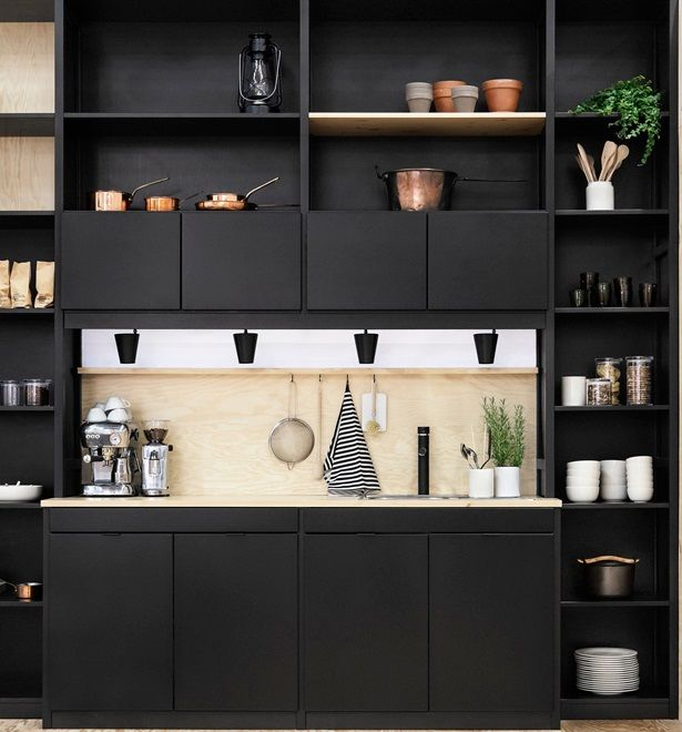 0 black modern kitchen