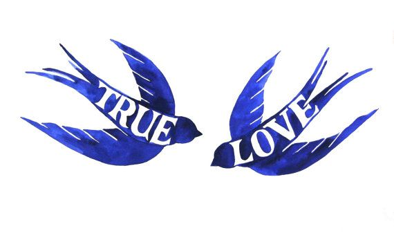 Love is Blue by Maria Plover on Etsy