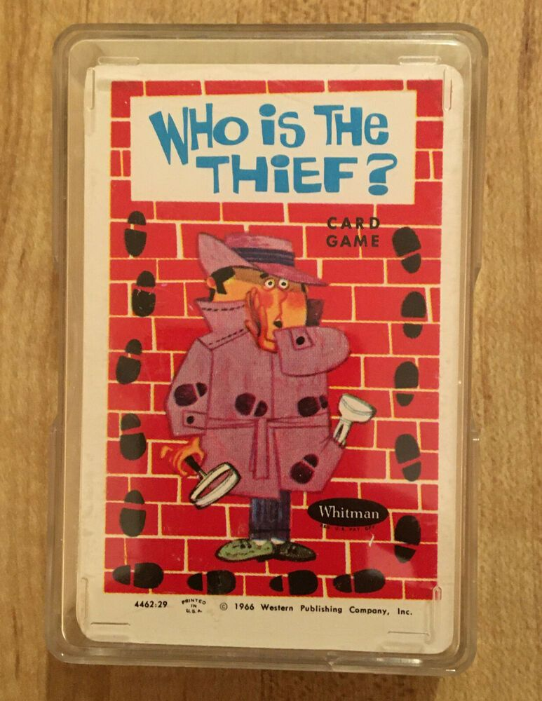 Who Is The Thief Vintage Card Game Vintage Whitman 1966 Complete