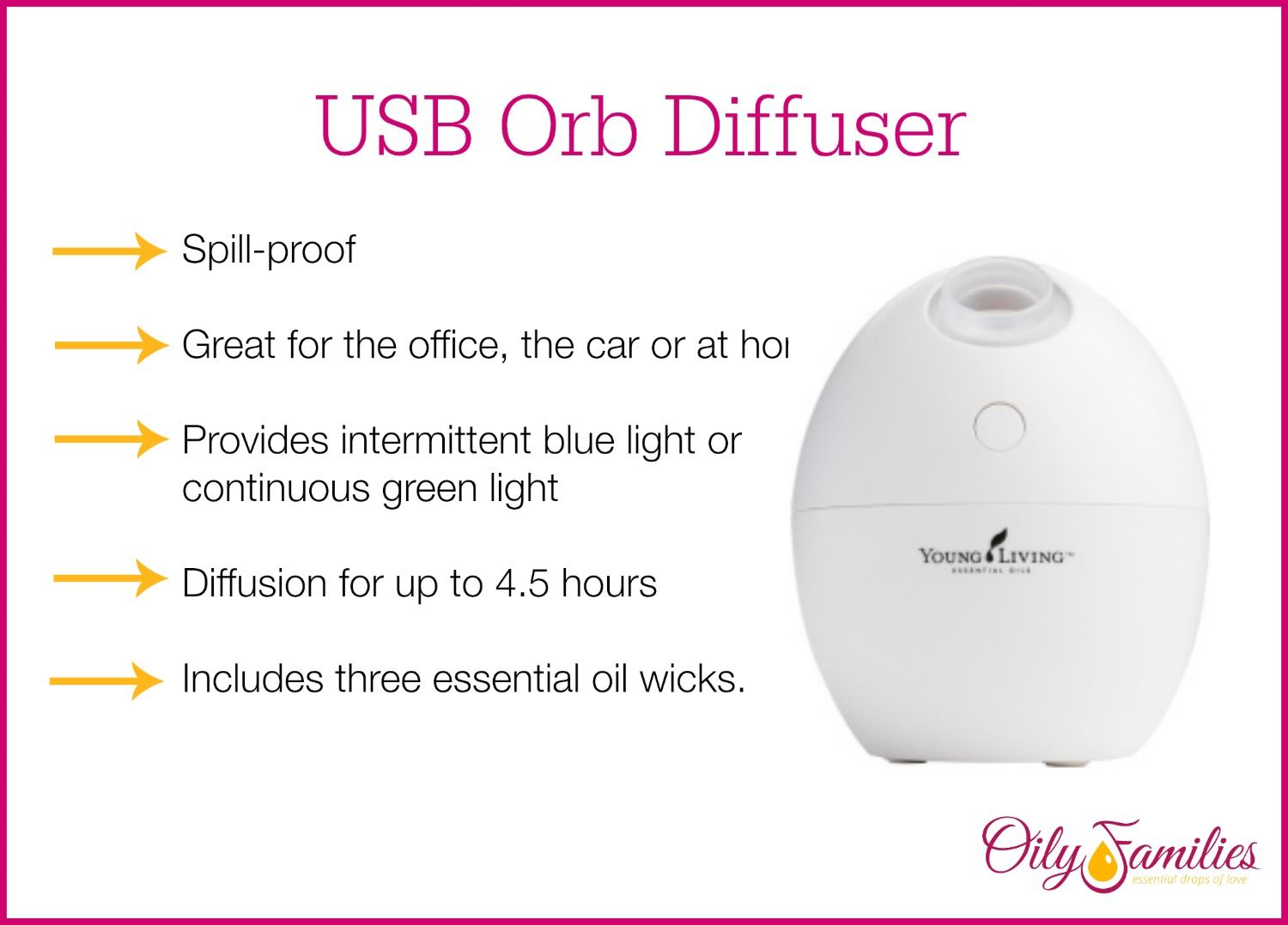 USB Orb Diffuser! Visit Www.essentialoillover.com For More Information On  Young Living.