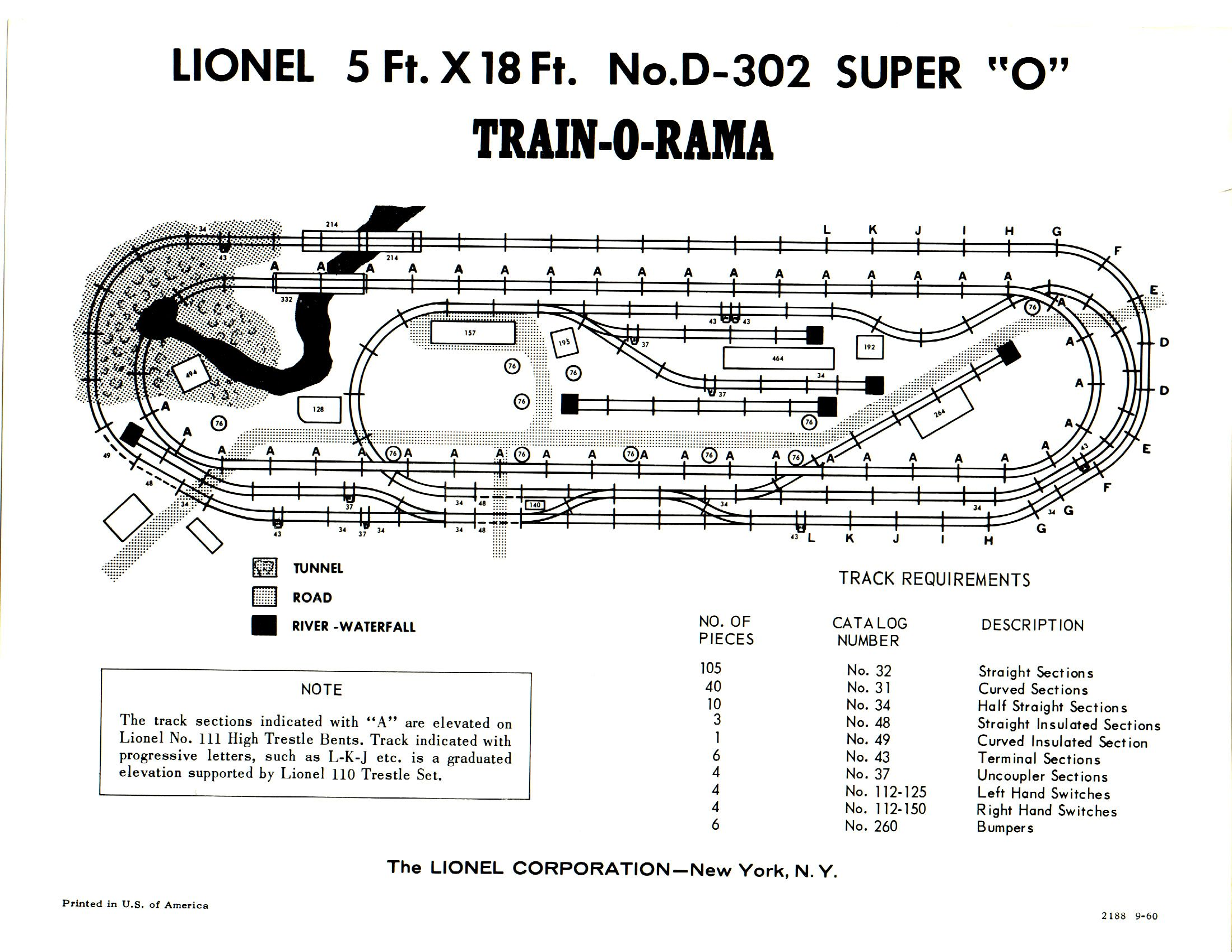 D 302 Super O 5 X 18 Layout