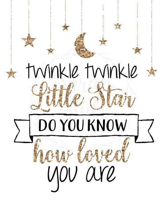 40d10ffcb Printable Wall Art - Twinkle Twinkle Little Star Nursery Decor Instant  Download Home Decor Digital P
