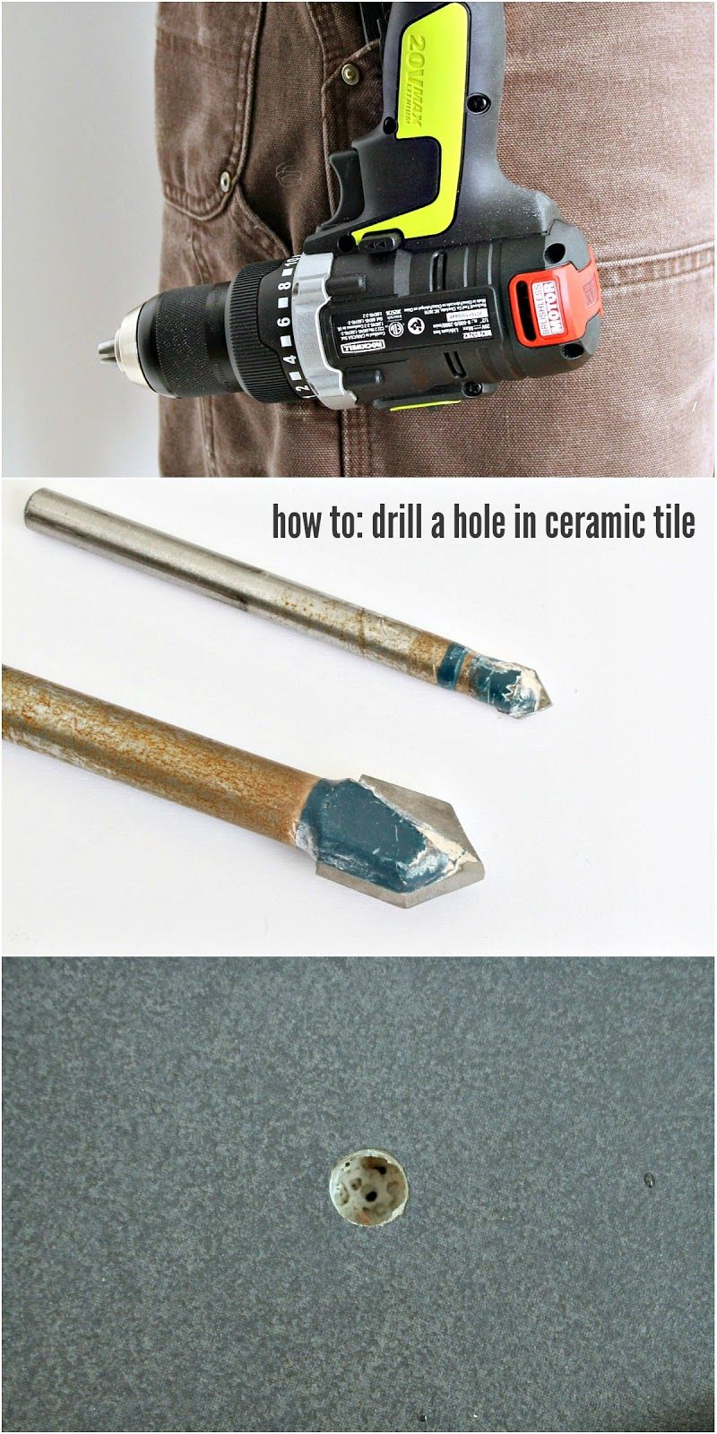 how to drill into tile shower
