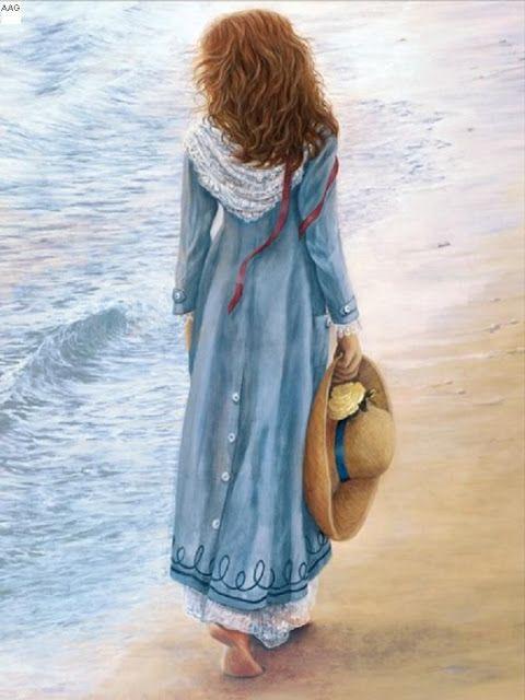 Princesa Nadie Mirando Al Mar Mujer En La Playa Imágenes Hermosas Madre Arte