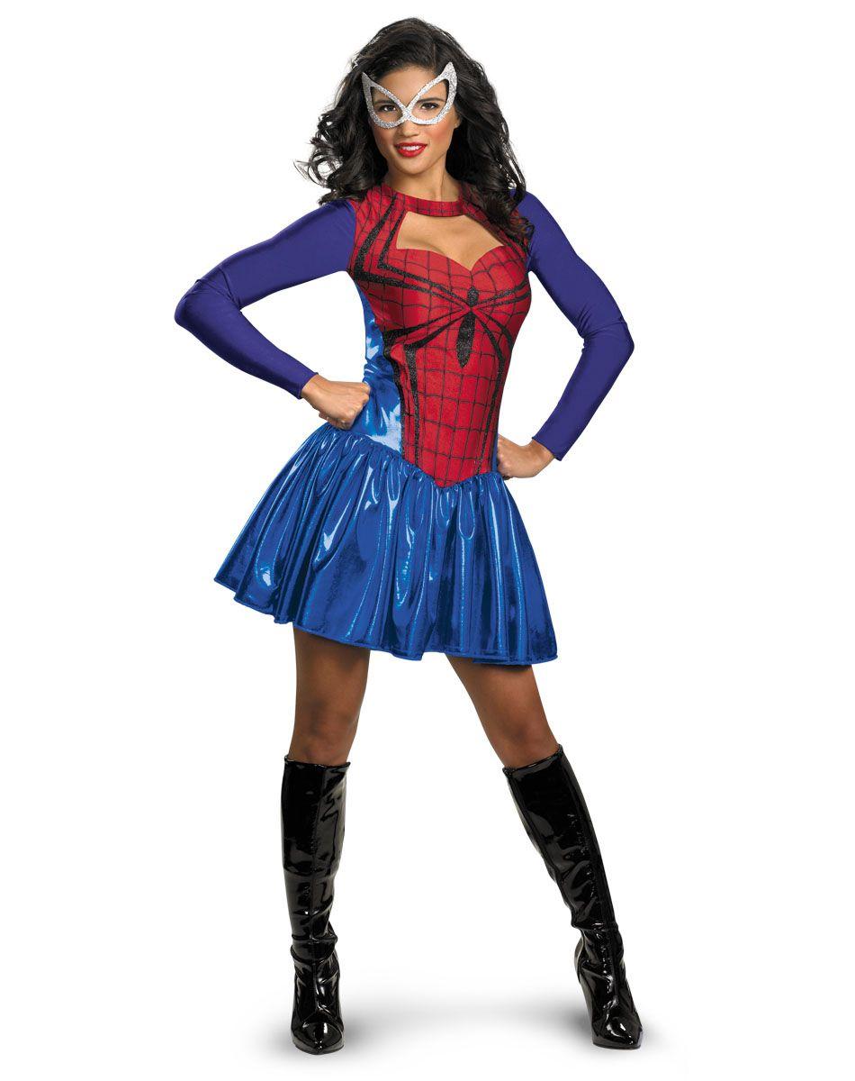 spiderman spidergirl classic adult womens costume - Classic Womens Halloween Costumes