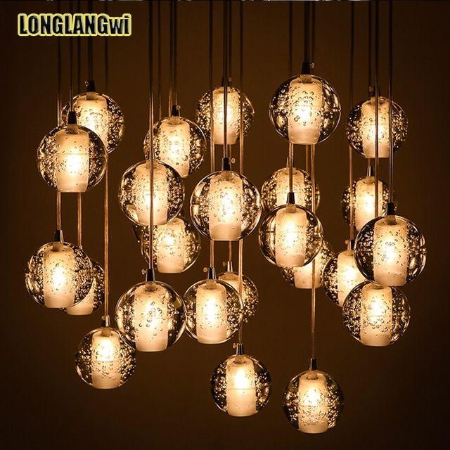 26 Lumi¨re Moderne LED Pendentif En Cristal Lumi¨res Luminaires pour