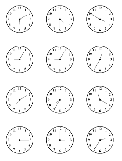 Time practice sheet for kids - All this. Clock face printables ...