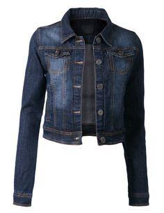 LE3NO Womens Denim Jacket with Pocket