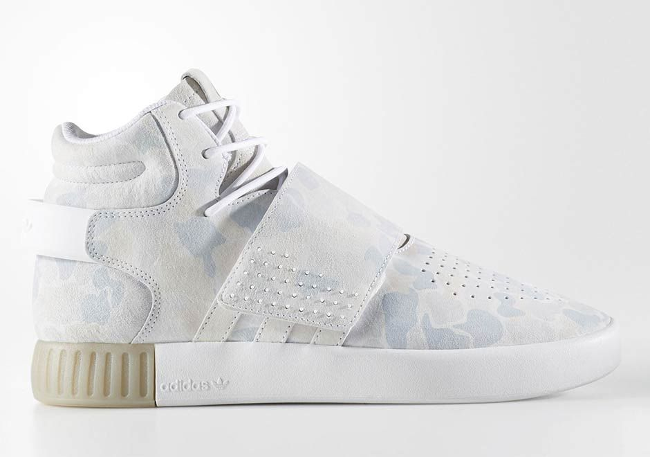 adidas Tubular Invader Strap White Duck Camo | SneakerNews.com