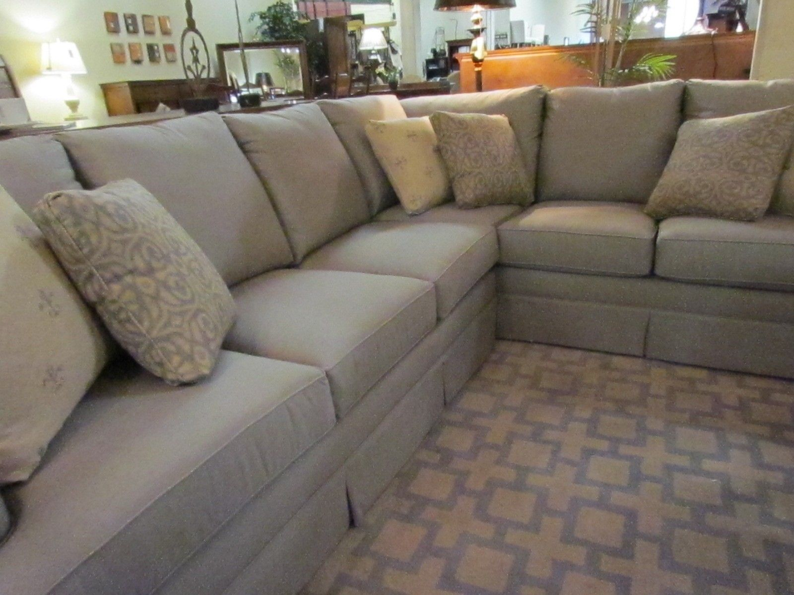 This sectional sofa has enough room for the entire family Even