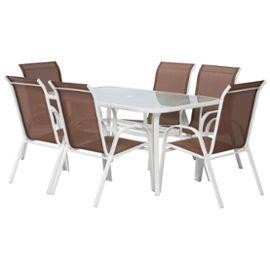 Salon De Jardin En Textilene Cordoba Phoenix Taupe Table Et