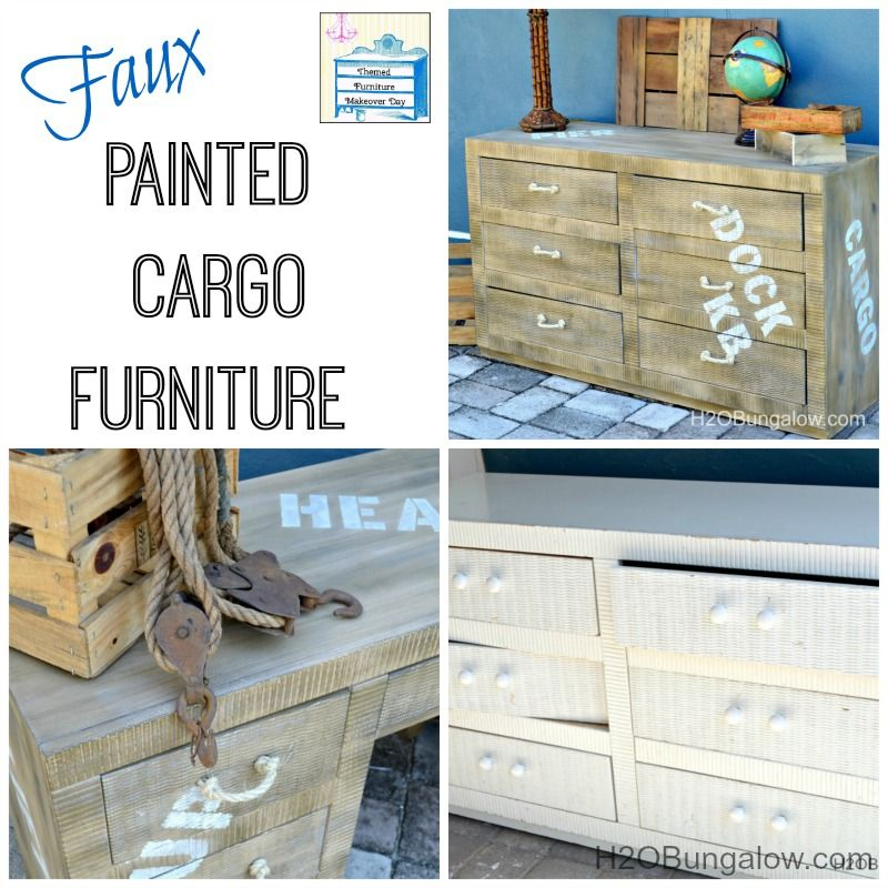 Faux Painting Furniture Ideas Part - 22: Faux Painted Cargo Furniture