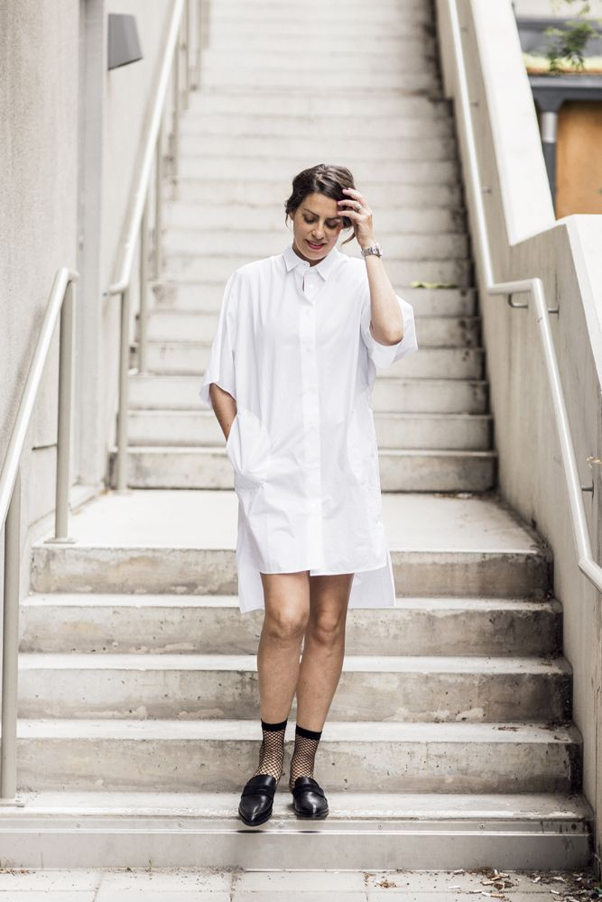Nina Campioni in a streetstyle OOTD outfit of the day, Acen