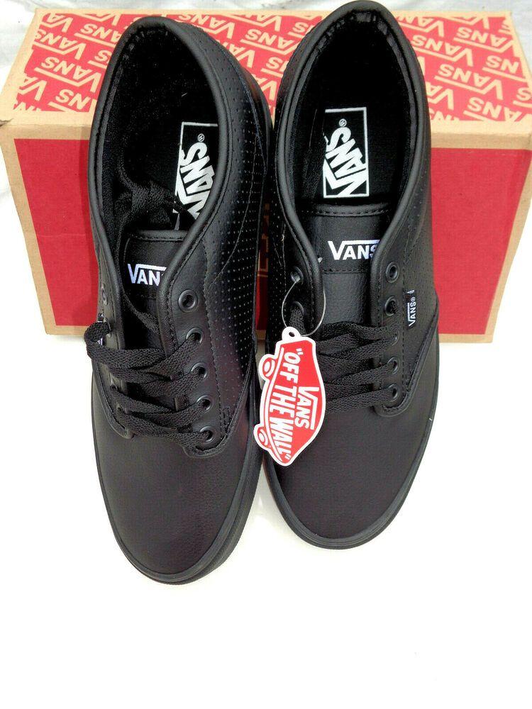 Cool Kicks Va >> Vans Men S Atwood Ultracush Sz 9 5 Perforated Leather Black Skate
