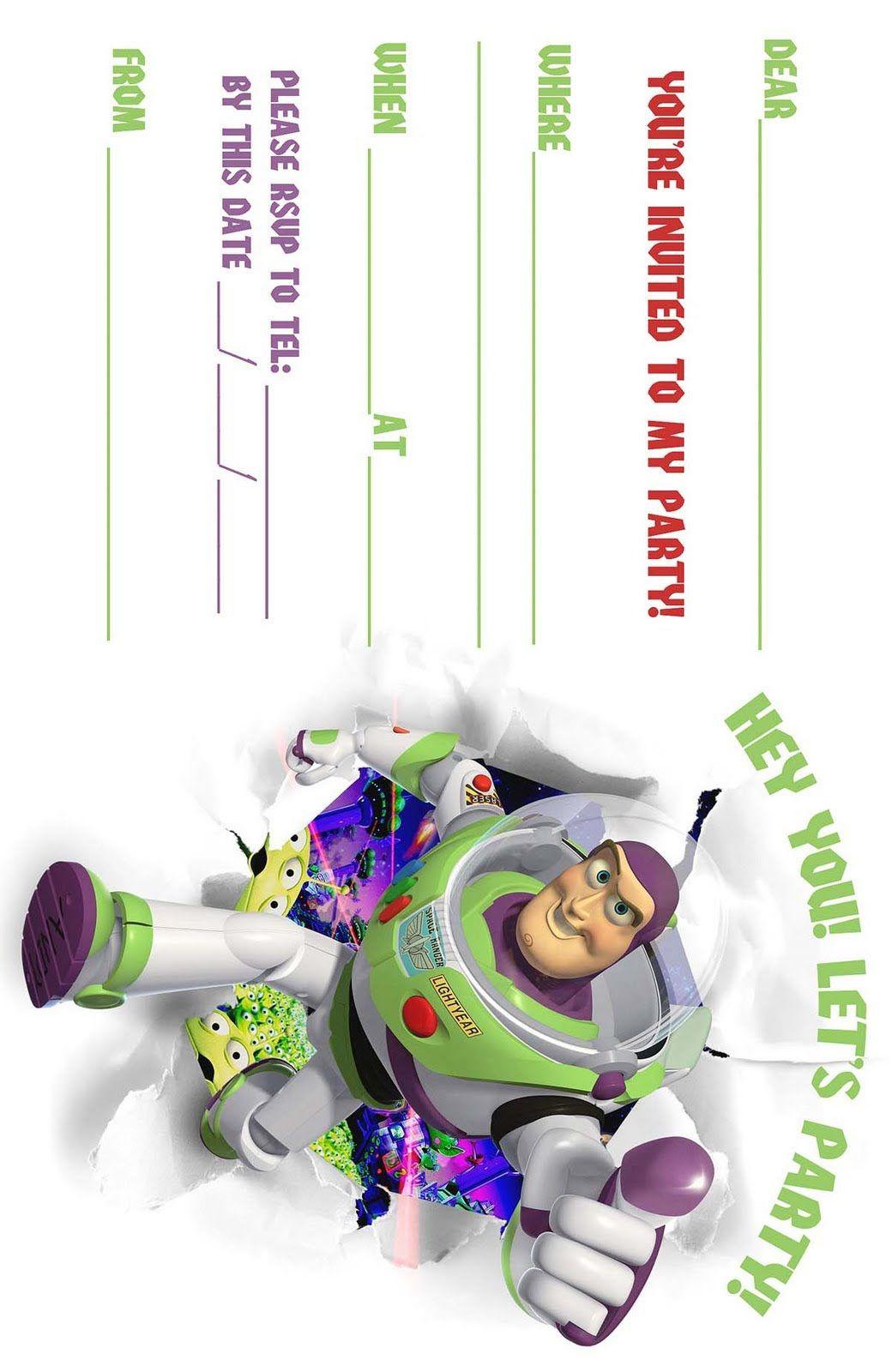 Free Buzz Lightyear Invitations Toy Story Invitations Buzz Lightyear Party Toy Story Party