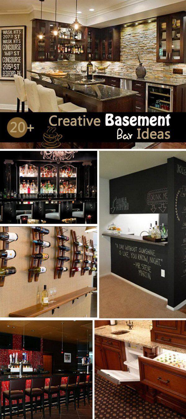 Creative Basement Bar Ideas! | DIY Home Decor | Pinterest ...