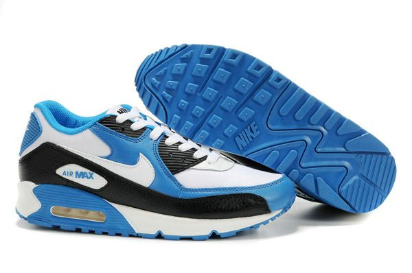 size 40 716fc 364d4 302519 116 Nike Air Max 90 Leather White White Black Vivid Blue AMFM0665    boots   Pinterest