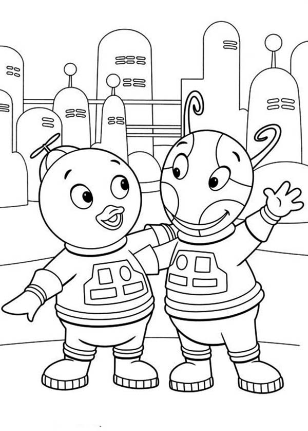 Pablo And Uniqua Is An Astronout In The Backyardigans Coloring Page Kids Play Color Coloring Pages Coloring Pages For Kids Online Coloring