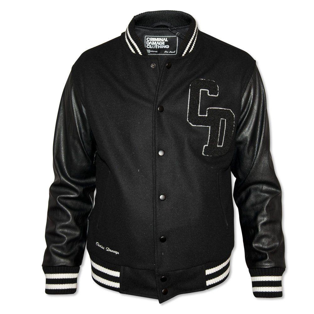 Criminal Damage Men S Black Letterman Jacket Mens Black Jacket Black Letterman Jacket Custom Varsity Jackets