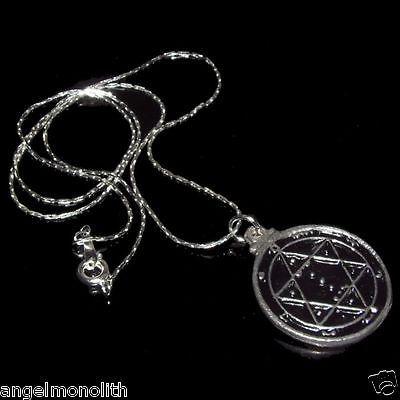 Magisches Martialis Schutz Amulett mit Kette versilbert Gesundheit Kraft Energie