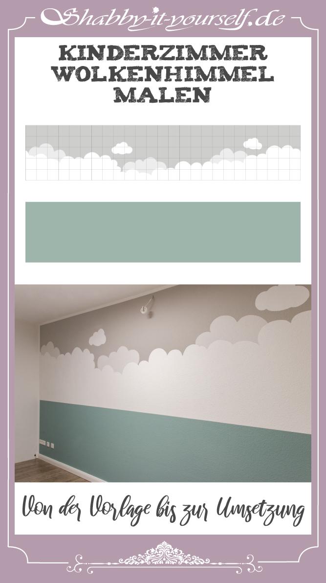 Kinderzimmer Wolkenhimmel Wand streichen