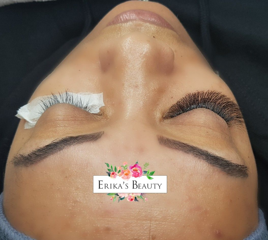 Before and after lashes extensions derby lashes eyelash