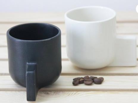 Isreal 12 60 Ceramic Espresso Cup In Black Matte Glaze Ceramic