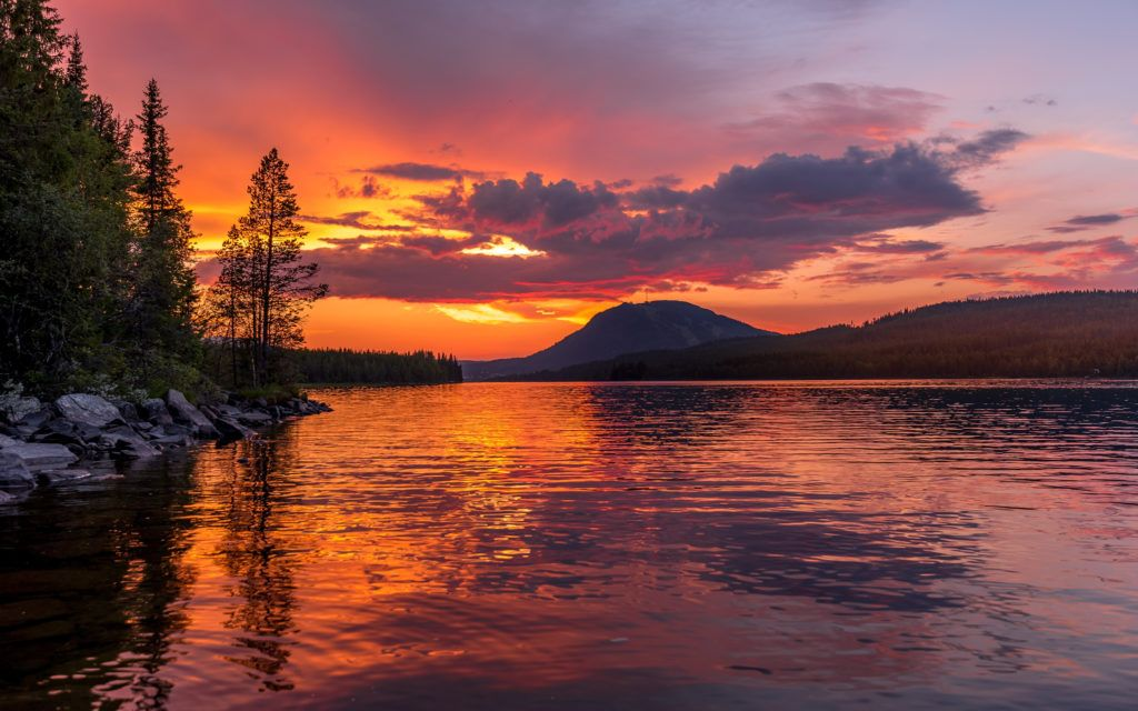 Landscape Photography Wallpaper Image Mountains Lake Sunrises And Sunsets Landscape On In 2020 Sunset Landscape Photography Mountain Landscape Photography Sunset Landscape
