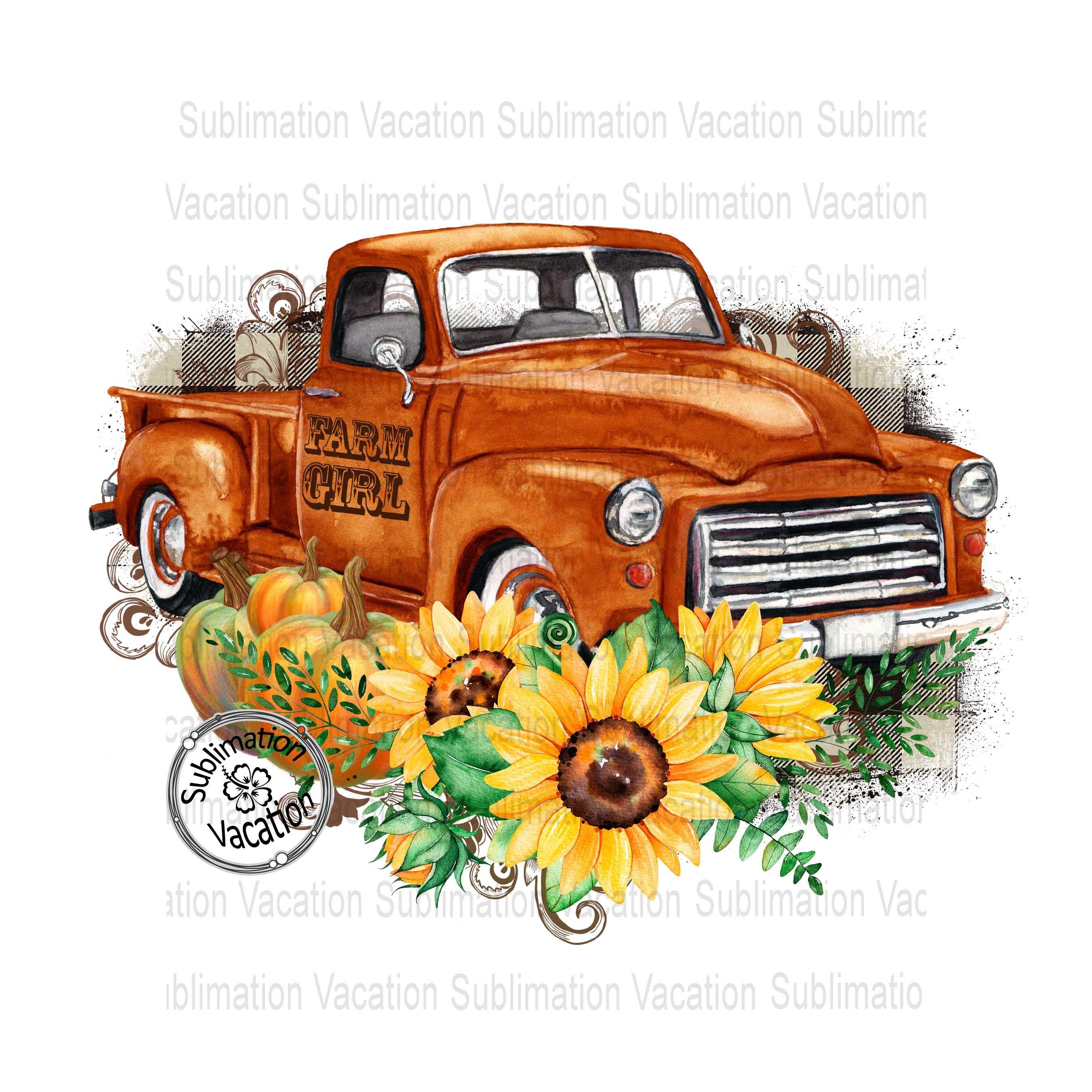 Fall Pickup Truck Tshirt Design Fall Antique Truck Design Fall