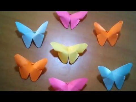 Cara Membuat Kupu Kupu Kertas Kerajinan Tangan Origami Anak