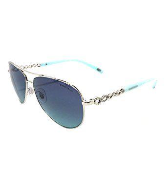 7d7f15b74d New Tiffany   Co. Womens TF3049B 60019S Silver Azure Gradient Blue  Sunglasses Review