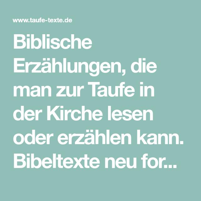 Bibeltexte Zur Taufe