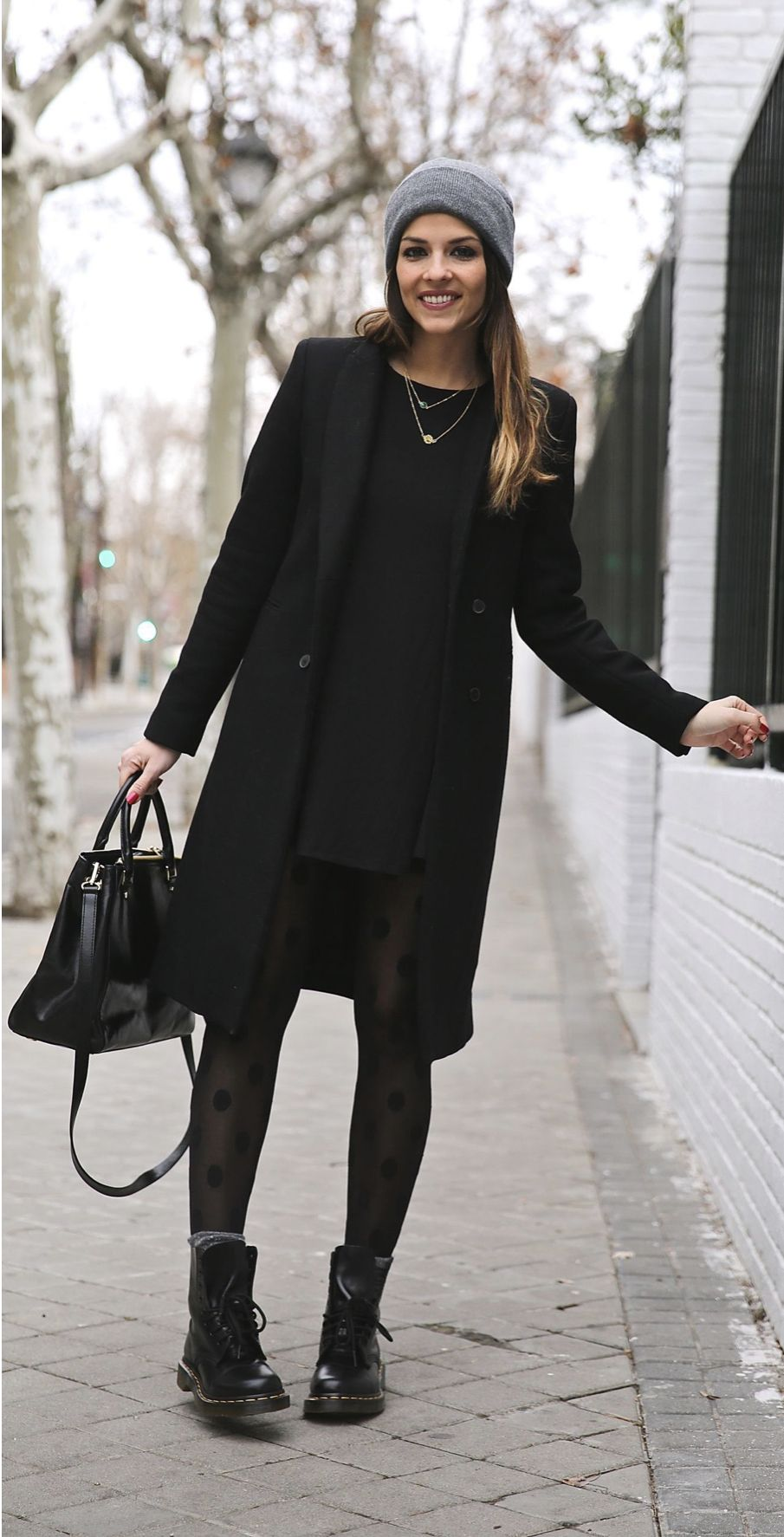 black long coat for women Autumn & winter #autumnwardrobe