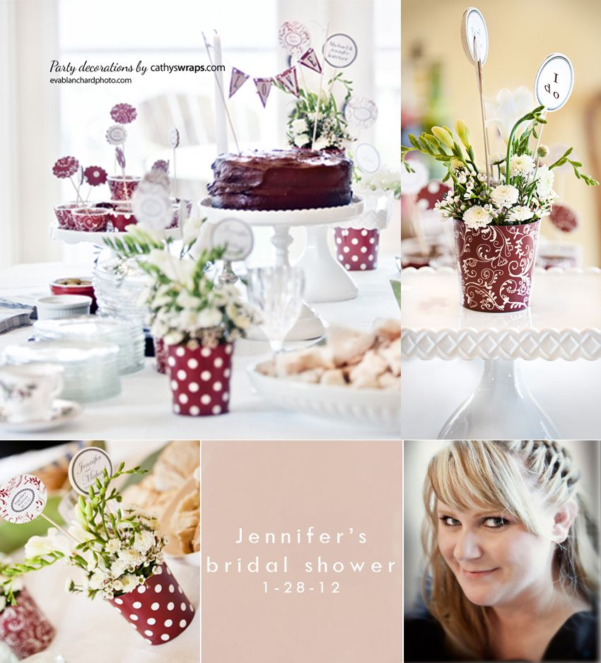 I\'m thinking these colors - burgundy and white. Great for fall, very ...