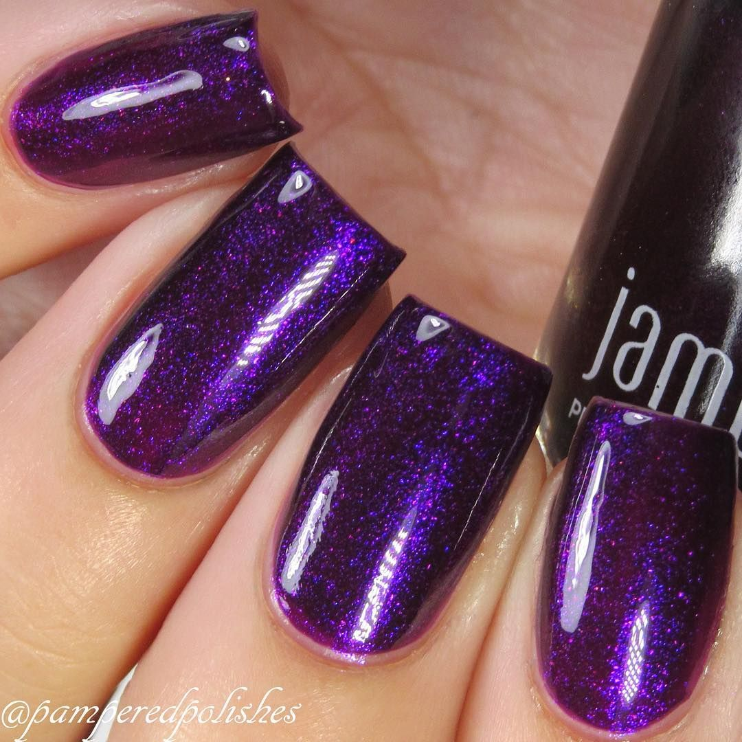 Royal nail lacquer- Feel like royalty with this deep purple nail ...
