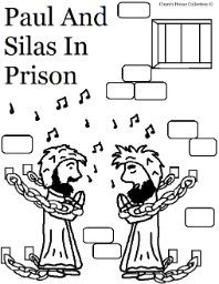 paul and silas in prison coloring pages for sunday school sunday