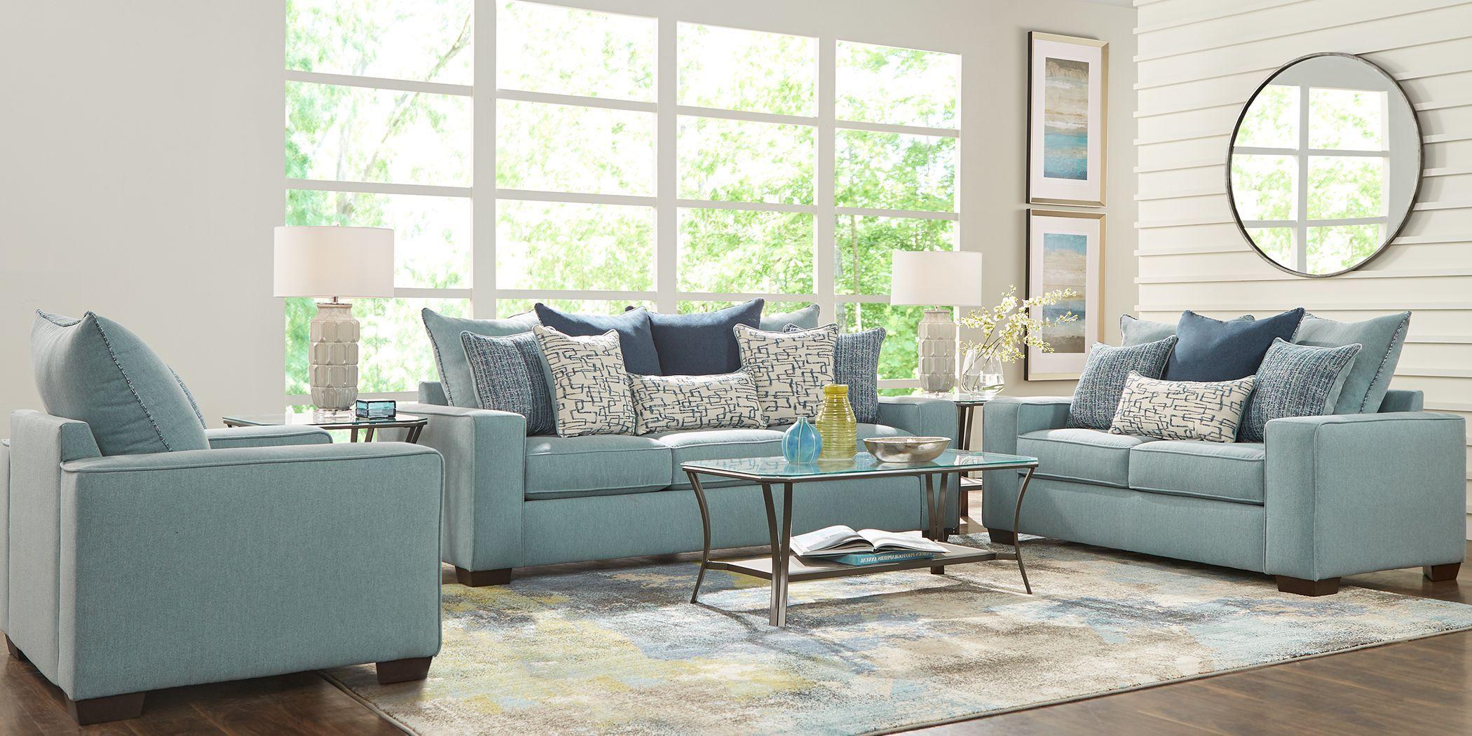 Best Fiona Lane Teal 5 Pc Living Room Living Room Sets 400 x 300