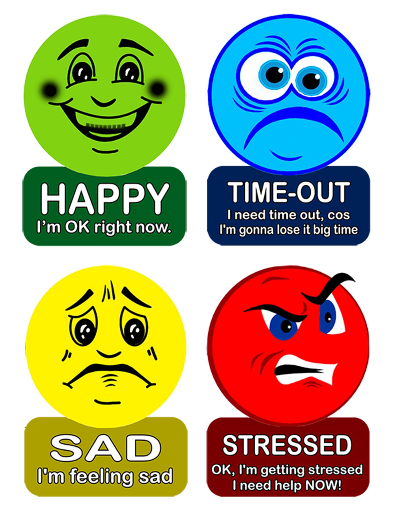 Emotion Faces For Kids Medium Sized