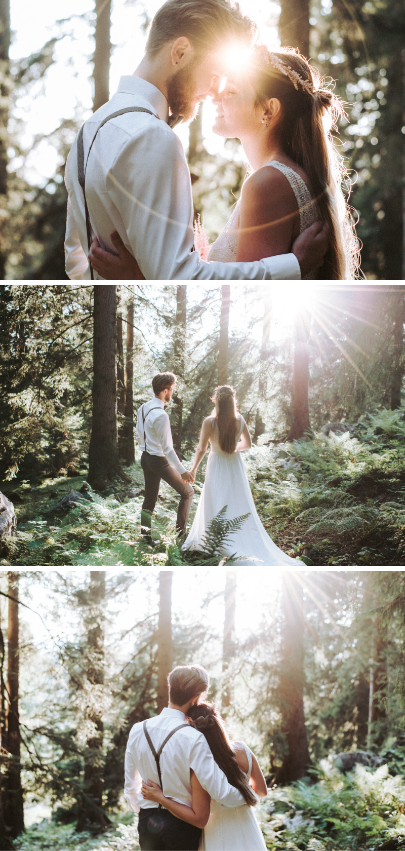 Wildromantisches Elopement Wedding Shooting mit Astilben