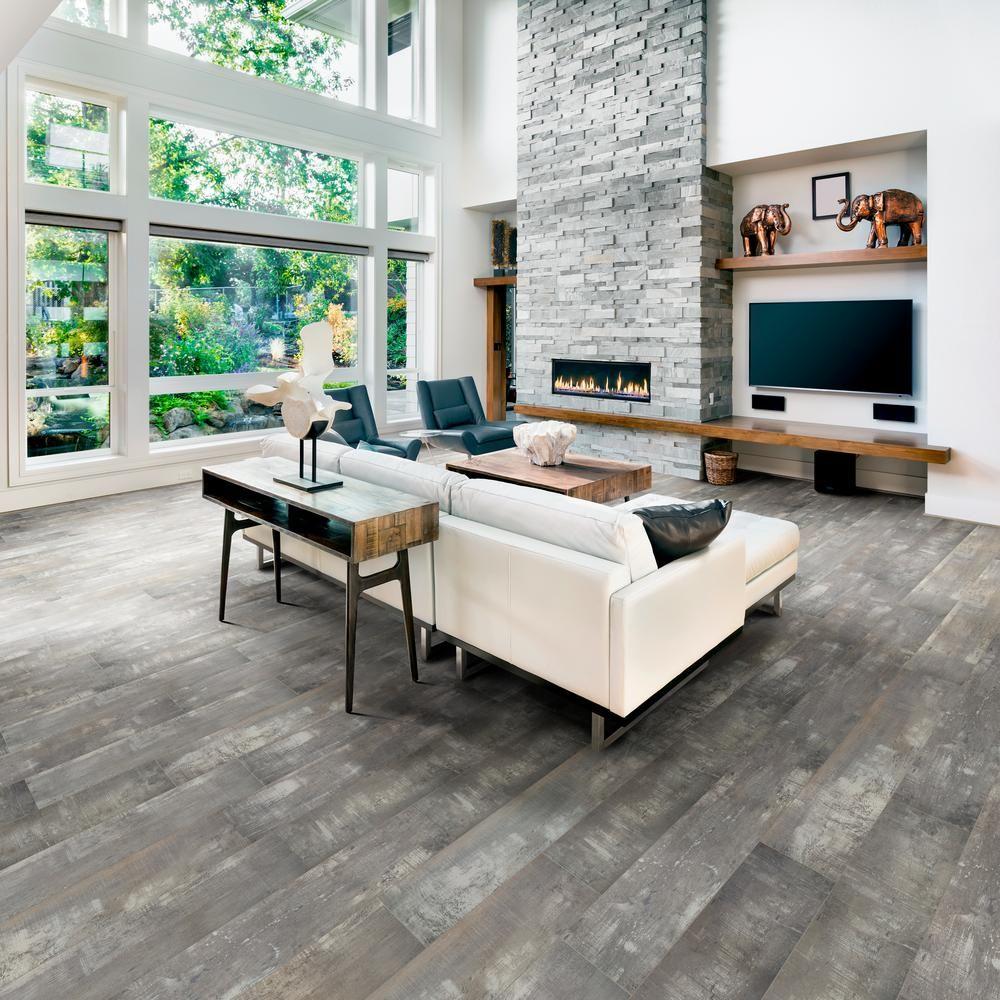 Home Decorators Collection Embossed Miramar 12 Mm Thick X 7 64 In Wide X 47 80 In Length Laminate Waterproof Flooring Living Room Remodel Vinyl Wood Flooring