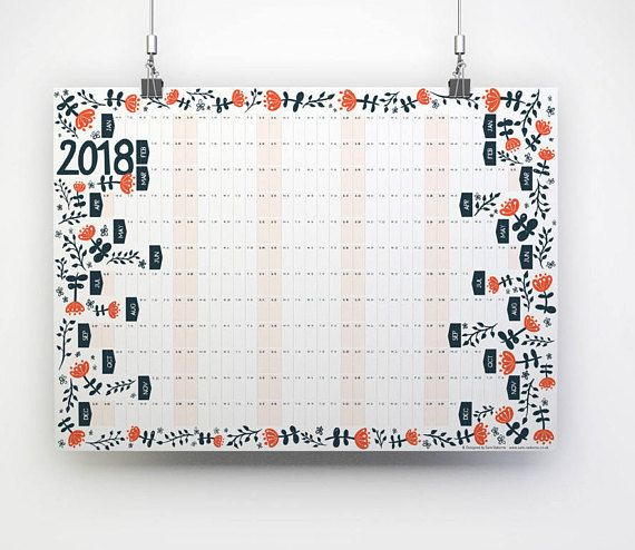2020 Wall Planner 2020 Calendar Yearly Organiser Business