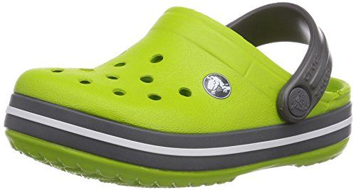 crocs Crocband Clog Kids, Unisex-Kinder Clogs, Grau (Graphite/Volt Green), 25/26 EU