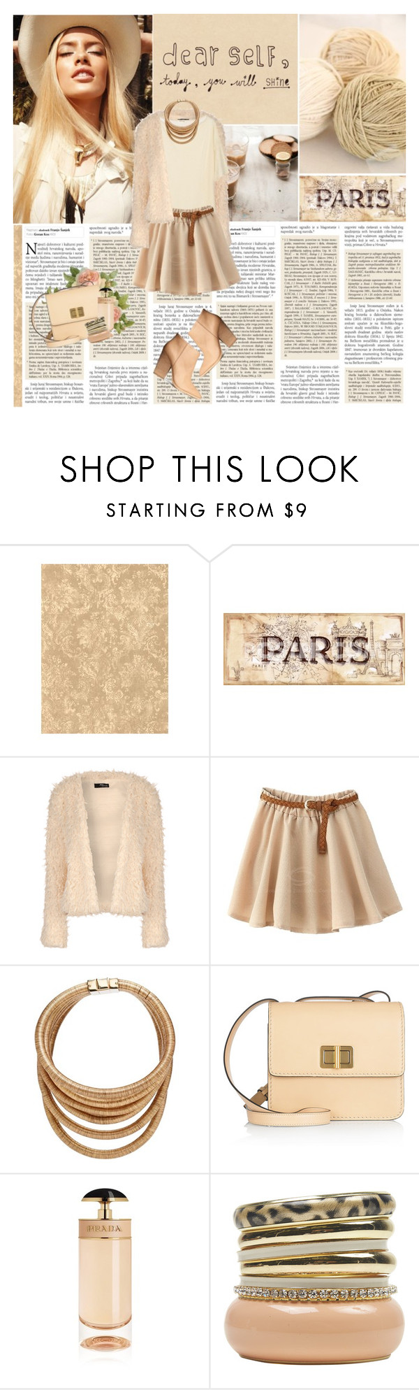"""""""Dear Self"""" by lifestyle-ala-grace ❤ liked on Polyvore featuring Jane Norman, Balmain, Chloé, Prada and Wet Seal"""