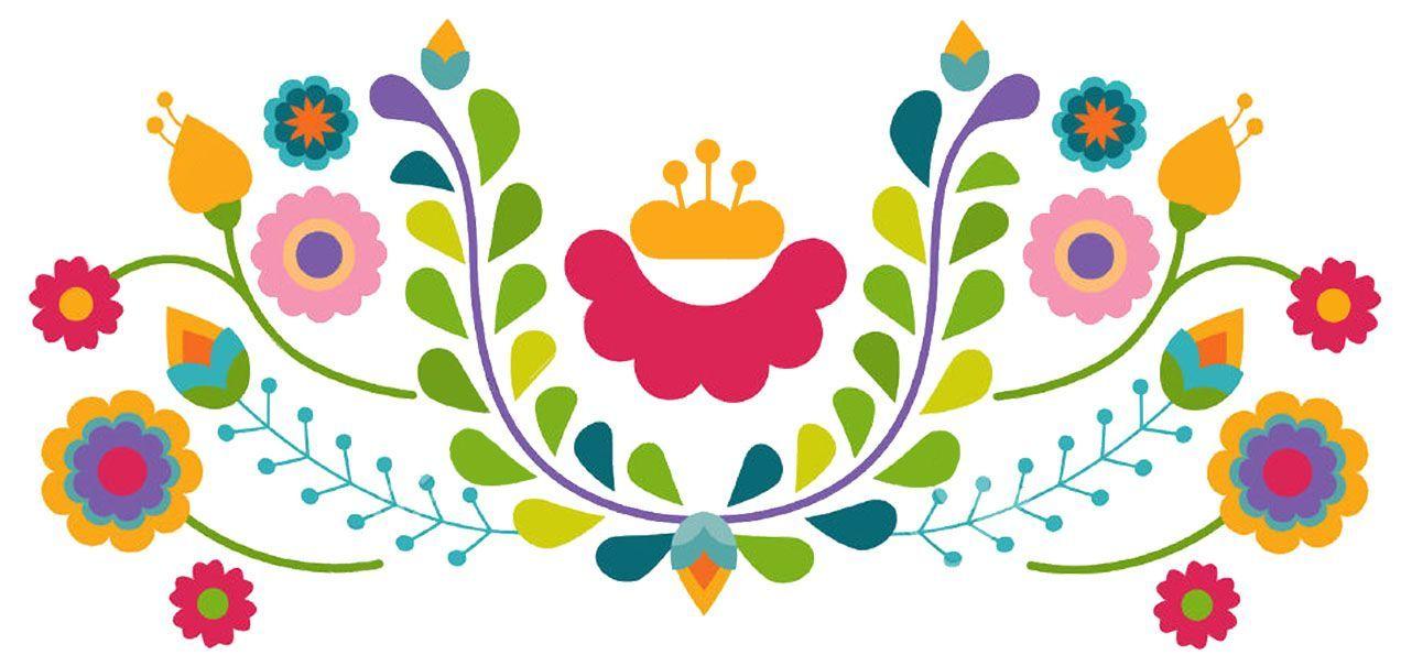 Fondo De Fiesta Diseño Decoracion Confeti Arte Patrón: Image Result For Mexican Flowers Clipart