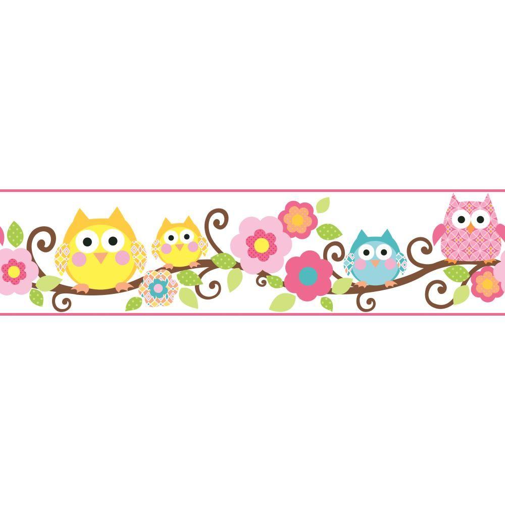 Fun Owl Branch Wallpaper Border KS2212BD Cenefas