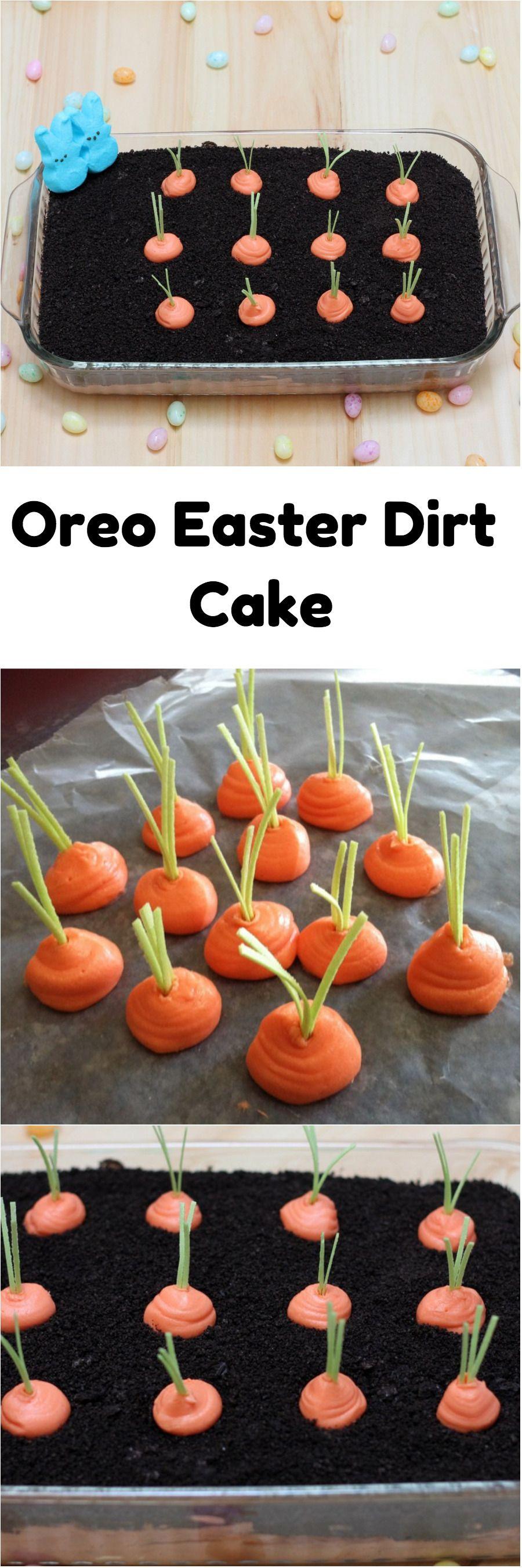 Oreo Easter Dirt Cake #EASTER #OREO #CAKE #DIRTCAKE