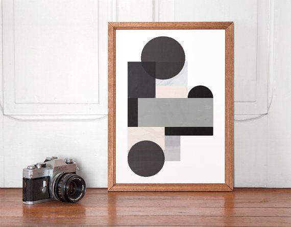 Décor à la maison, lart abstrait géométrique, publicité, aquarelle abstraite, art noir et blanc, tirages de mur, art minimaliste, imprimé scandinave, estampes  === Mur dart moderne, parfait pour décorer votre maison ou votre bureau !  Imprimé sur papier Canson de 270 gsm premium avec les encres.  Les tailles disponibles sont :  A3 / 297 x 420mm / 11,7 x 16,5 pouces A4 / 210 x 297mm / 8 x 11,5 pouces A2 / 420 x 594mm / 16,5 x 23,4  Vous voulez une taille/couleur différente ? Communiquez avec…